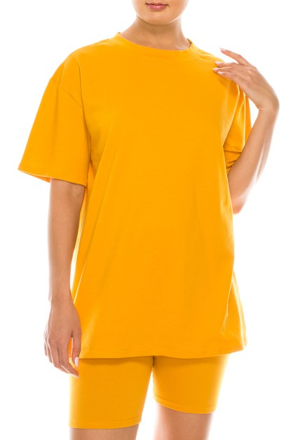 Over size casual tee - orangeshine.com