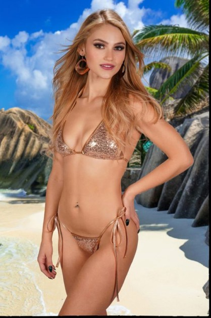 Two Piece Sequin Bikini Set - orangeshine.com