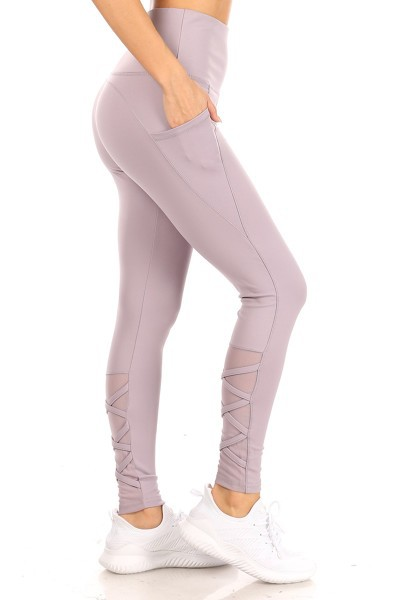 Mesh Cross Sports Leggings Yoga - orangeshine.com