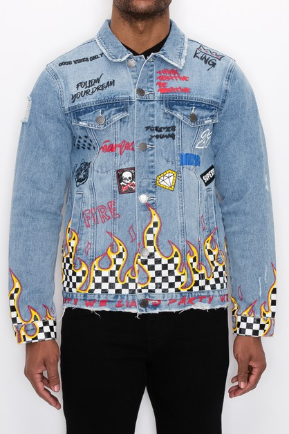 MEN WE LIKE TO PARTY DENIM JACKET - orangeshine.com