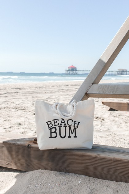 Beach Bum Rope Tote Bag - orangeshine.com