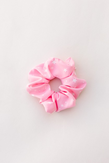 Pink Star Hair Scrunchie - orangeshine.com