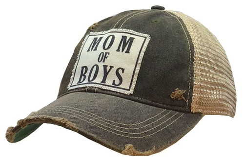 Mom of Boys Trucker Hat - orangeshine.com