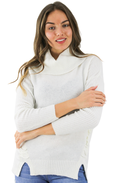 Ivory Acrylic Decorated Sweater - orangeshine.com