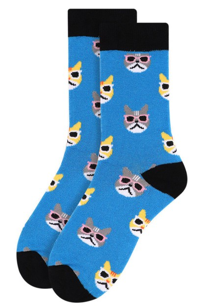 Womens Cool Cats Novelty Socks - orangeshine.com
