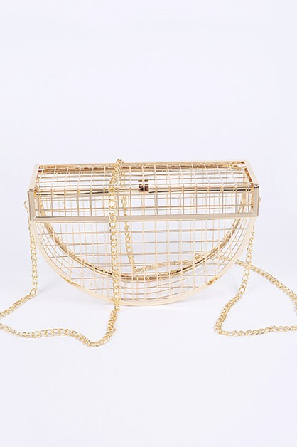 Cage Inspired Iconic Clutch Bag - orangeshine.com