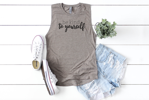 BE KIND TO YOURSELF TANK TOP - orangeshine.com