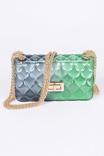 Mix Tone Small Jelly Swing Bag - orangeshine.com