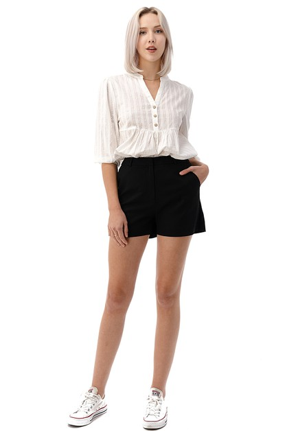 High Waist Chino Shorts - orangeshine.com