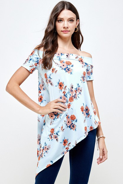Off Shoulder Symmetrical Dress Top - orangeshine.com
