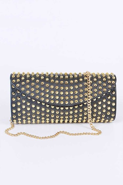 Studs Iconic Crossbody Clutch Bag - orangeshine.com