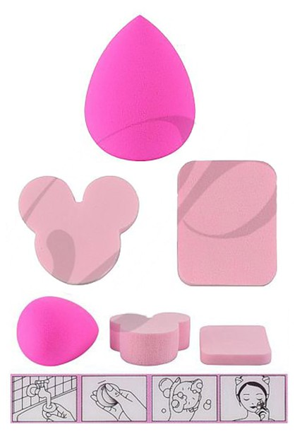 3-pc Make Up Sponge Set - orangeshine.com
