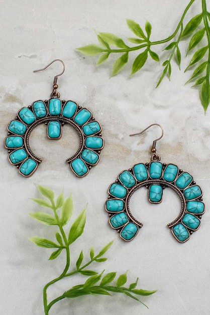 Turquoise Earrings - orangeshine.com