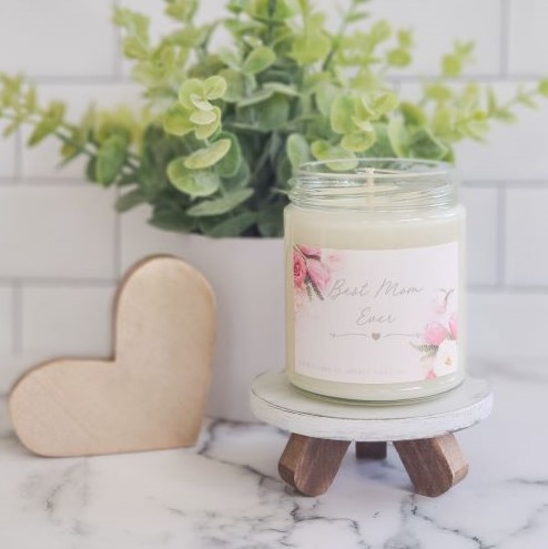 Best Mom Ever Soy Wax Candle - orangeshine.com