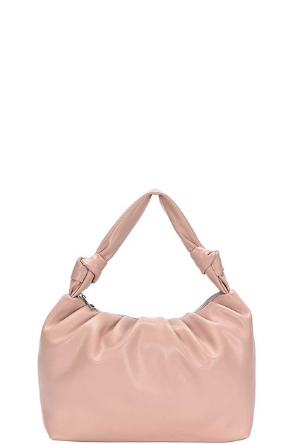 PLAIN WRINKLED DESIGN HOBO BAG - orangeshine.com