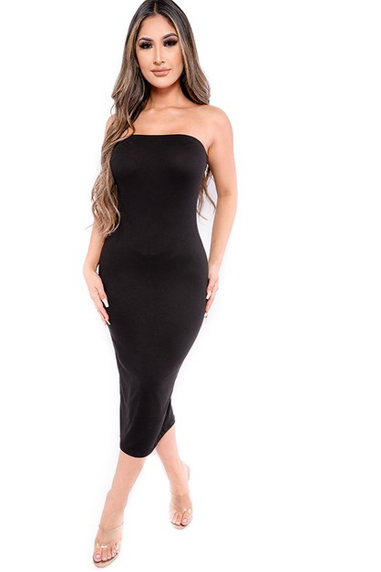 SOLID TUBE DRESS - orangeshine.com