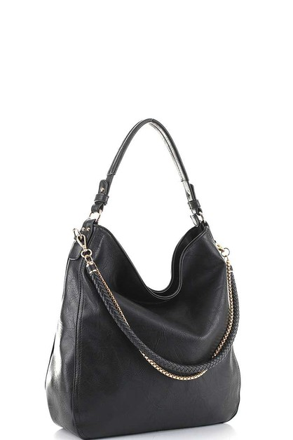 STYLISH BRAIDED AND CHAIN HOBO BAG - orangeshine.com