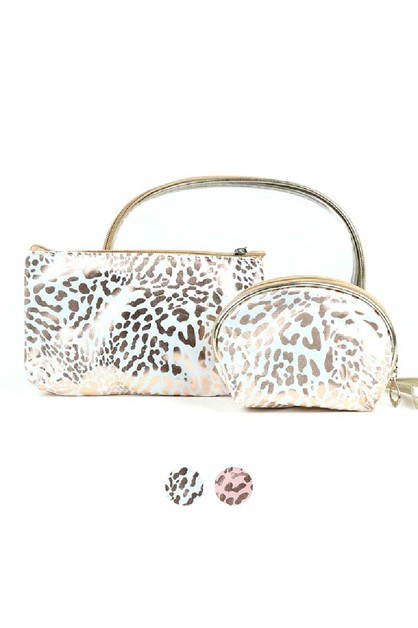 Ladies Makeup Bag 3pc Set Cosmetic - orangeshine.com
