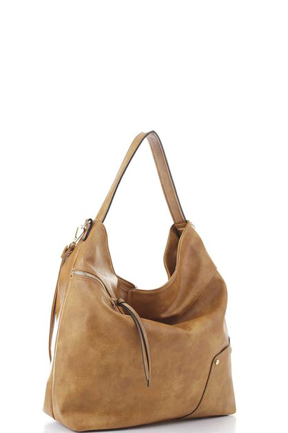 PLAIN ZIPPER STRING HOBO BAG - orangeshine.com