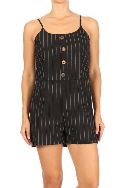Woemns Relaxed Stripes Rompers Boho - orangeshine.com