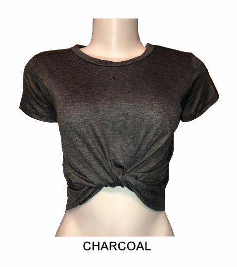 TWIST FRONT CROP TOP - orangeshine.com