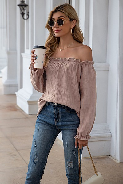 Off Shoulder Blouse - orangeshine.com