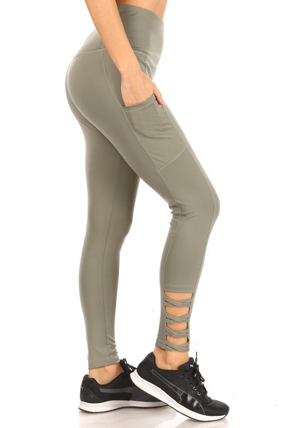 Cross Pockets Sports Leggings Yoga - orangeshine.com