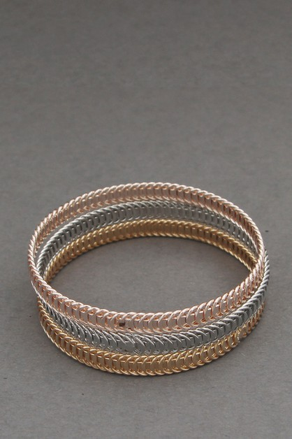 3PCS SET  METAL BANGLE BRACELETS - orangeshine.com