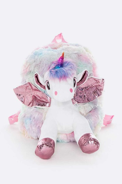 Kids Plushy Unicorn Back Pack - orangeshine.com