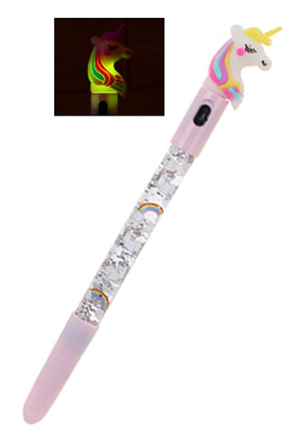 Light Up Unicorn Pen - orangeshine.com