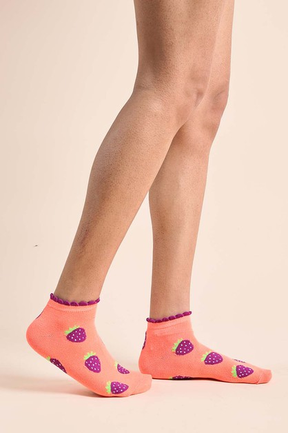 Berry Ankle Socks - orangeshine.com