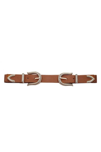 DOUBLE SIDED ROPE DESIGN BUCKLE BELT - orangeshine.com