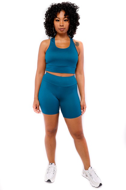 2 PC SOLID SHORT SET - orangeshine.com