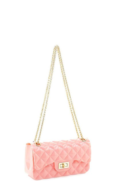 SMOOTH JELLY QUILTED CROSSBODY BAG - orangeshine.com
