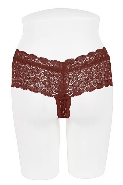 Plus Size Lace Thong - orangeshine.com
