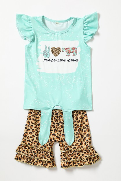 Love peace cow leopard set - orangeshine.com