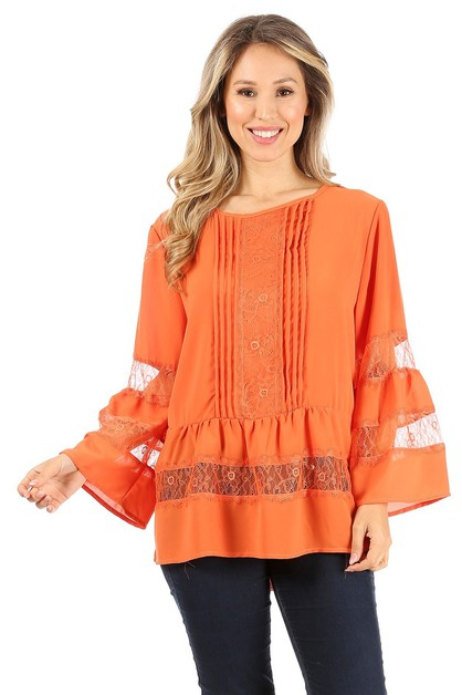Long sleeve top - orangeshine.com