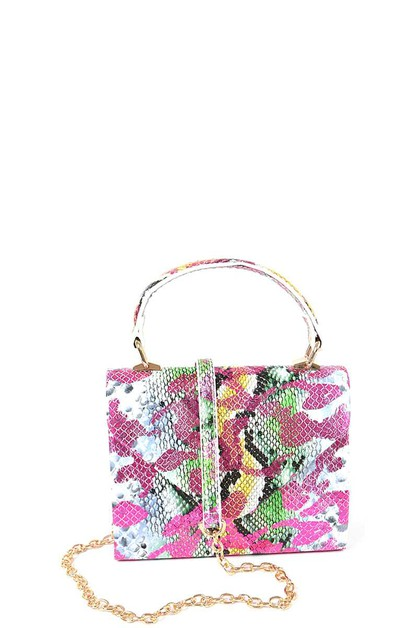 MULTI COLOR SNAKE DESIGN CROSSBODY B - orangeshine.com