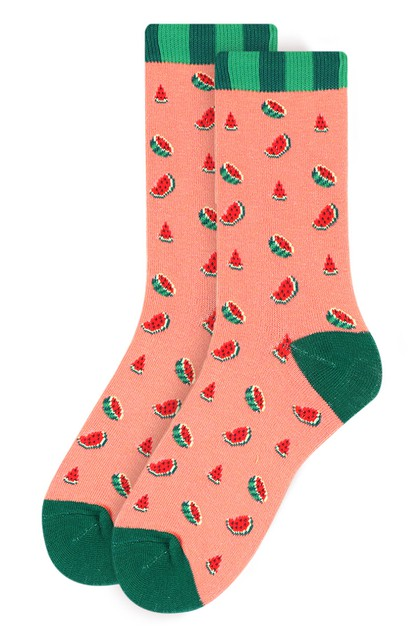 Womens Watermelon Novelty Socks - orangeshine.com