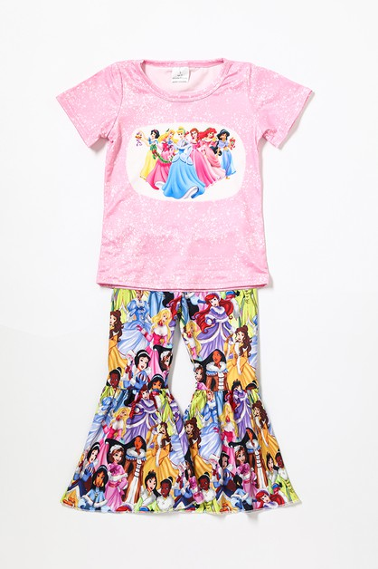 Character princess bell pants set - orangeshine.com
