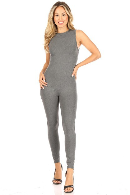 Sleeveless High-waist Sport Jumpsuit - orangeshine.com