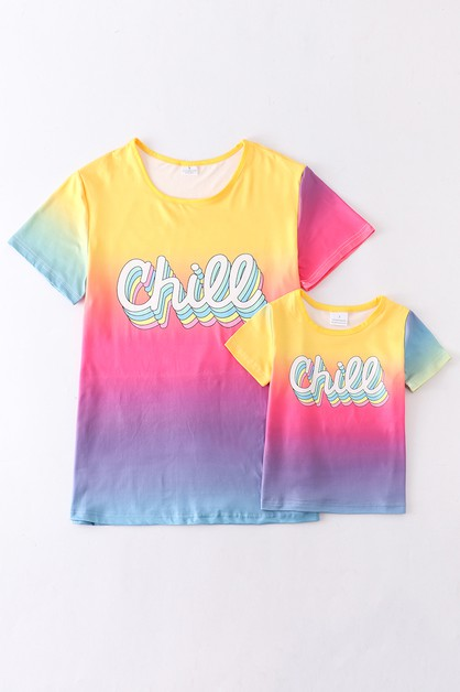 Chill tie dye mommy and me shirt - orangeshine.com