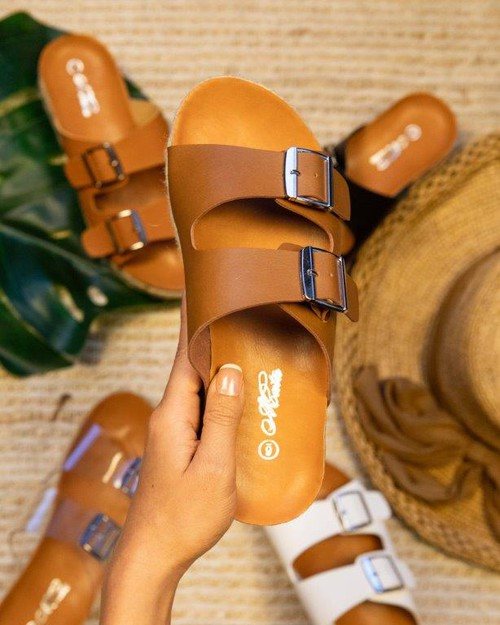 WOMAN TWO BUCKLE SANDAL - orangeshine.com