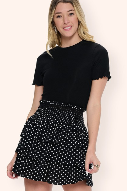 Polka Dot Mini Skirt - orangeshine.com