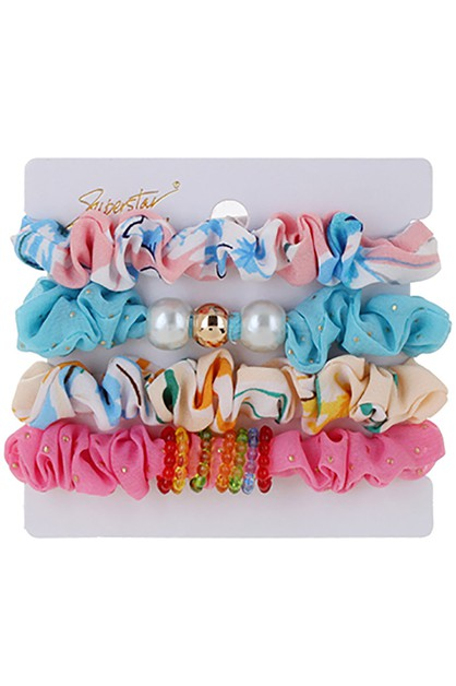 4-pc Multi Scrunchie Set - orangeshine.com