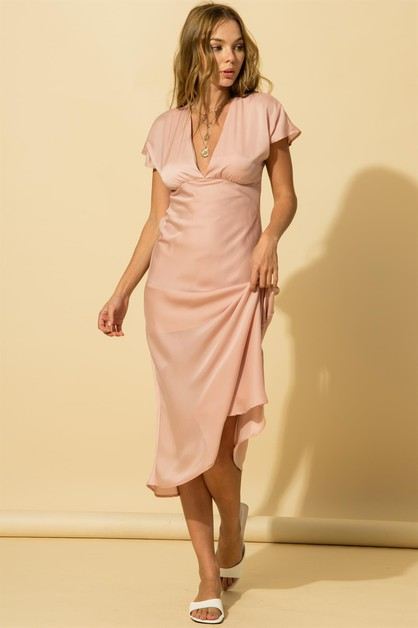 SATIN KIMONO MAXI DRESS - orangeshine.com