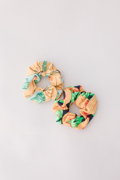 2-pack Banana Print Scrunchie - orangeshine.com