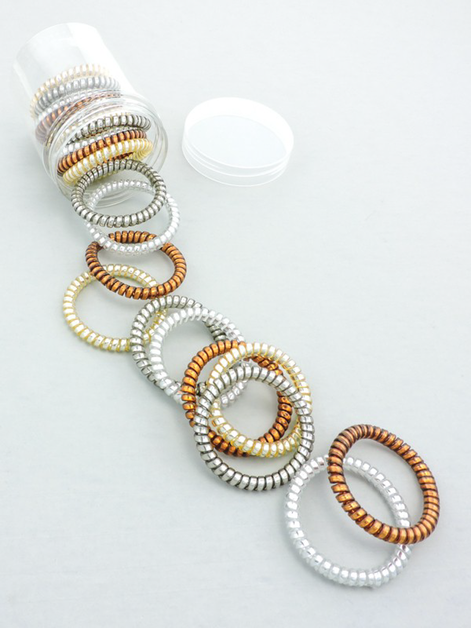 Copper Tones Assorted Hair Coil Jar  - orangeshine.com