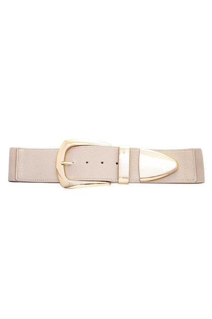 PLAIN OVERSIZED BUCKLE BELT - orangeshine.com