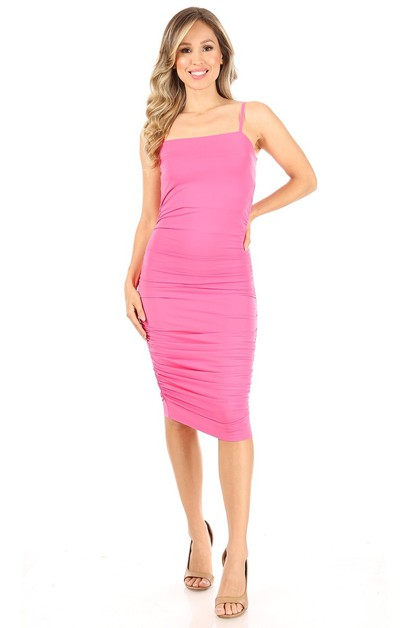 Solid midi dress - orangeshine.com